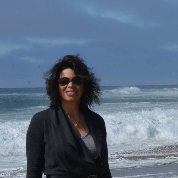 Lisa at the beach
