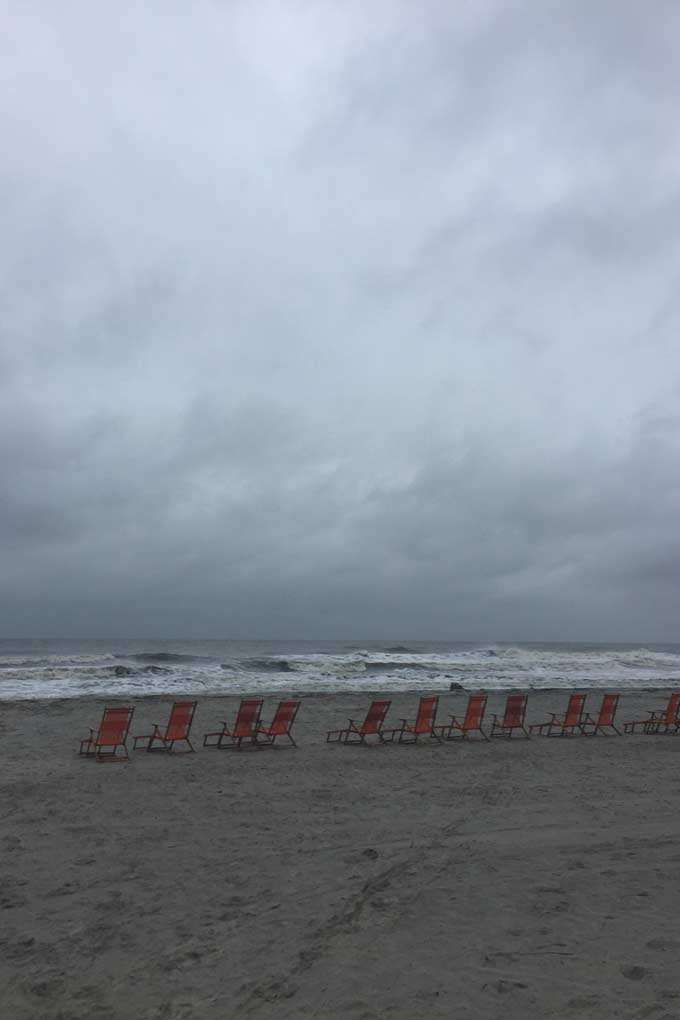 Beach during hurricane season