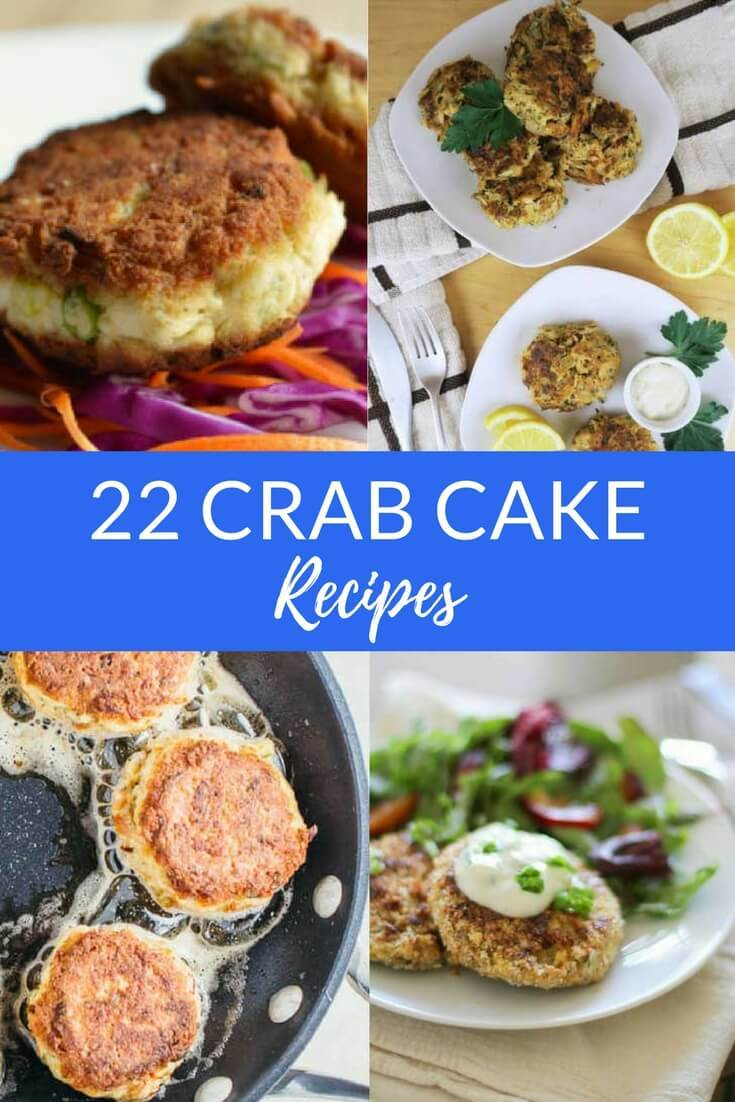These delicious crab cake recipes will get your mouth watering! From Maryland style crab cakes to easy healthy versions, there's a crab cake for every palate. With or without breadcrumbs, you can't go wrong with any of these delicious crab cake recipes. There are even low carb, paleo, and gluten-free versions. #seafood #crab #recipeideas #coastalwandering