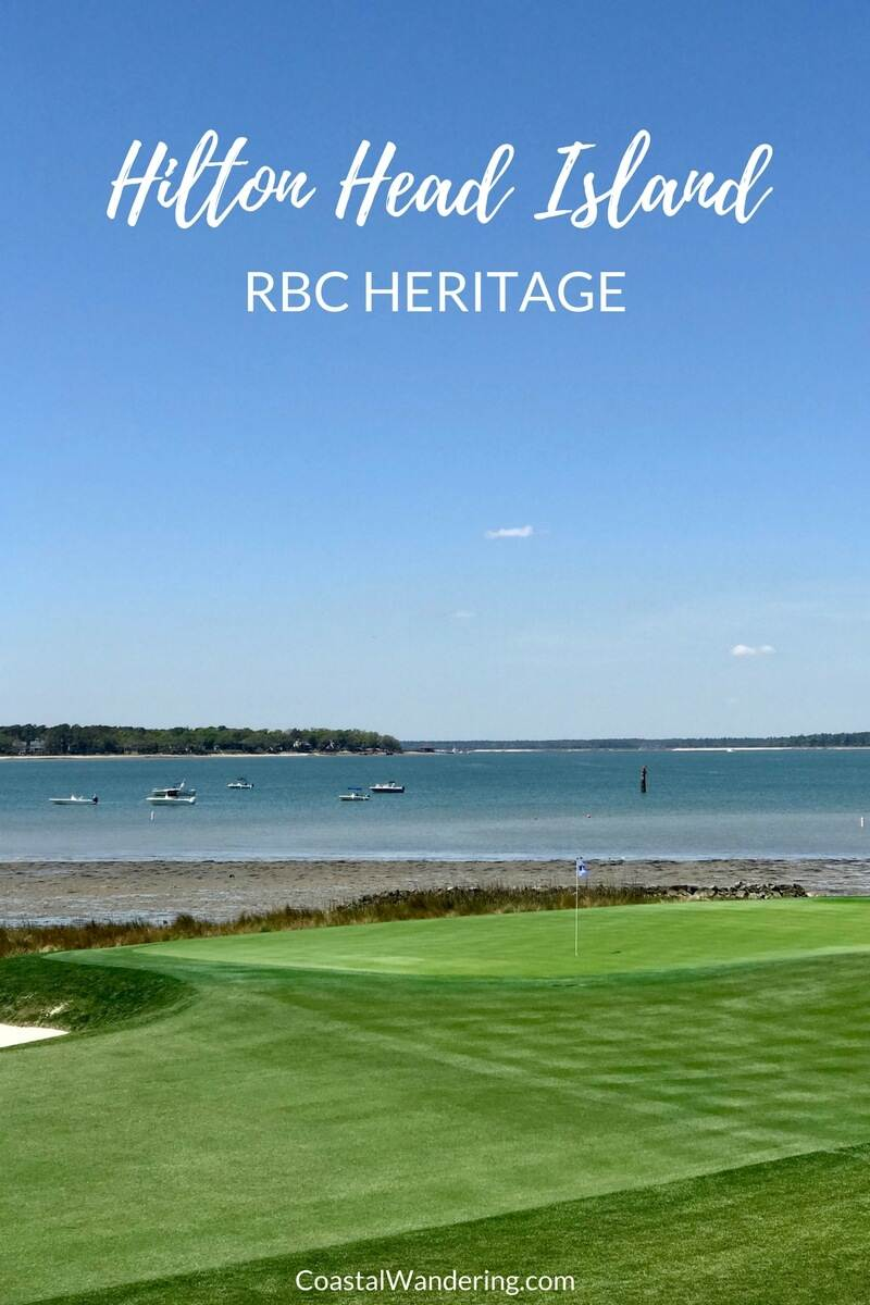 HIlton Head Island RBC Heritage PGA Golf Tournament view from the 18th green at Harbour Town Golf Links