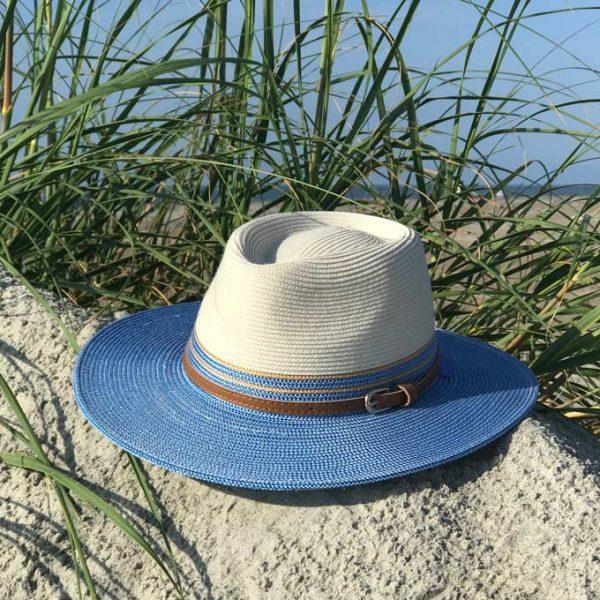 Sun hat on sand dune