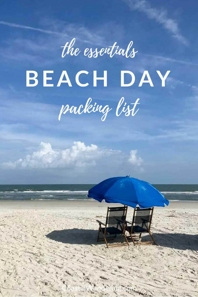 Beach chairs and umbrella | Beach day packing list | the essentials