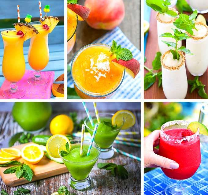 Frozen tropical drinks