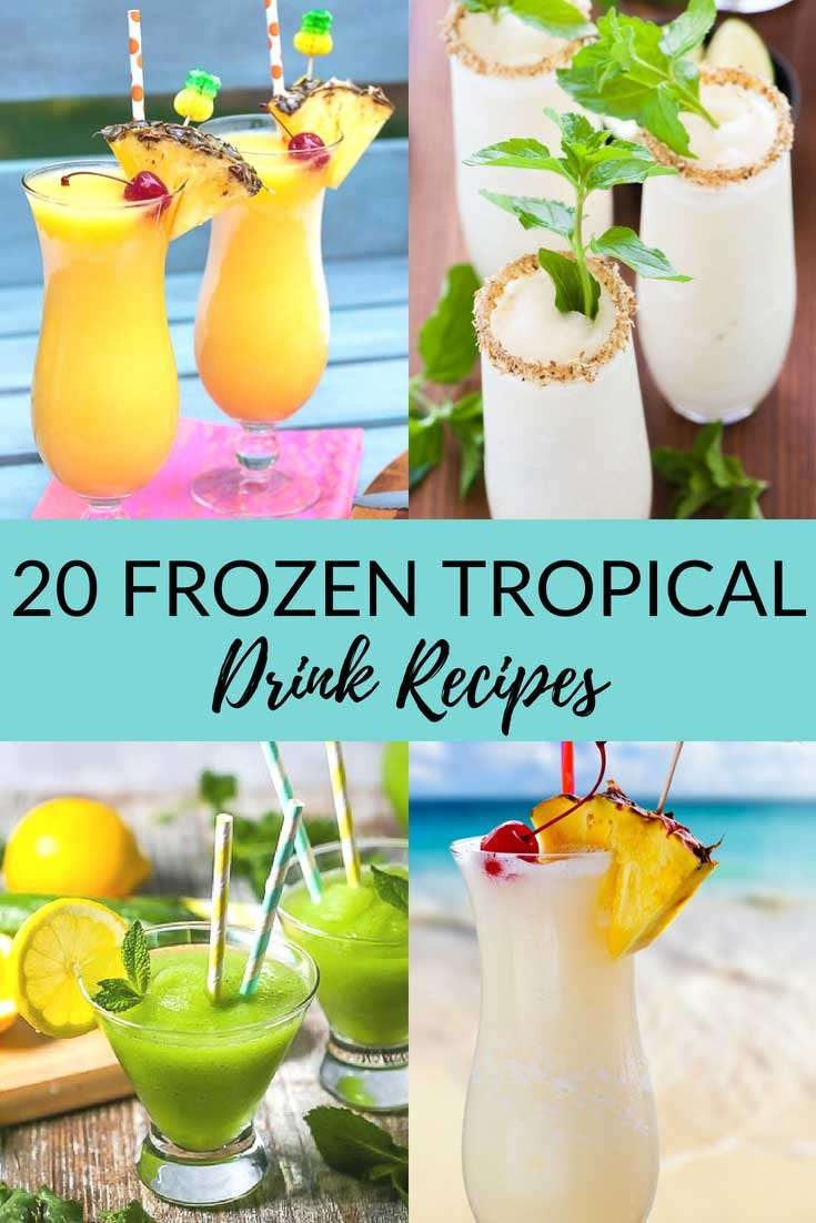20 Frozen Tropical Drinks That Make You Feel Like You're On Vacation