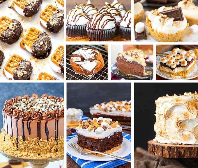 S'mores cake, bars, cupcakes, donuts, treats