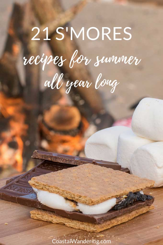 21 s'mores recipes for summer all year long - s'mores by the campfire on the beach