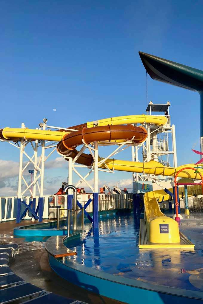 Carnival cruise ship water slide - Coastal Wandering