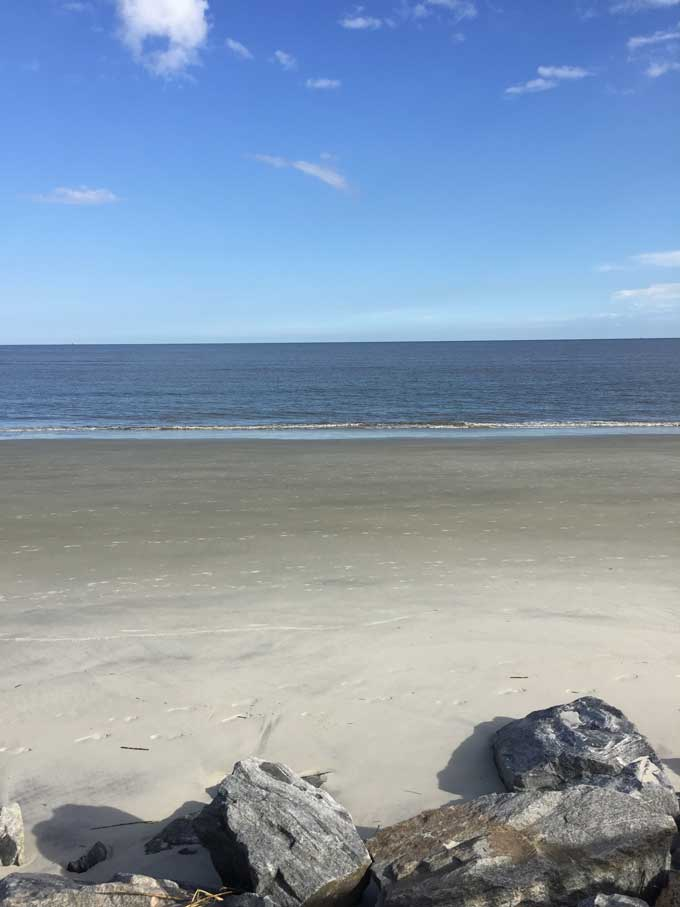 On the beach at St Simons Island Georgia - Coastal Wandering