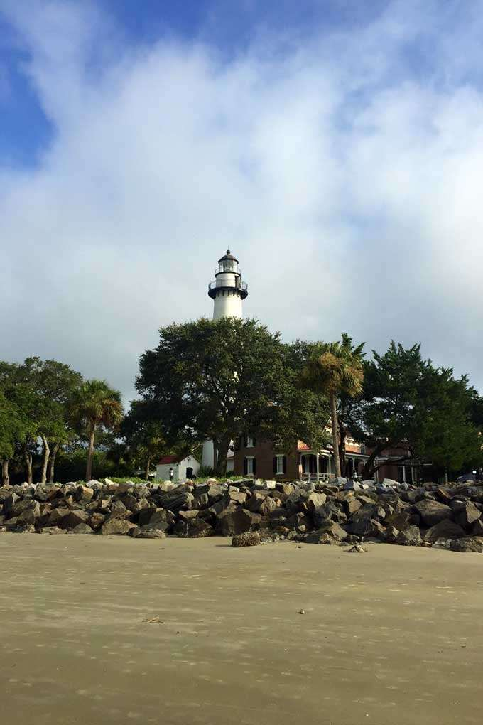 A view of the St Simons Island Lighthouse