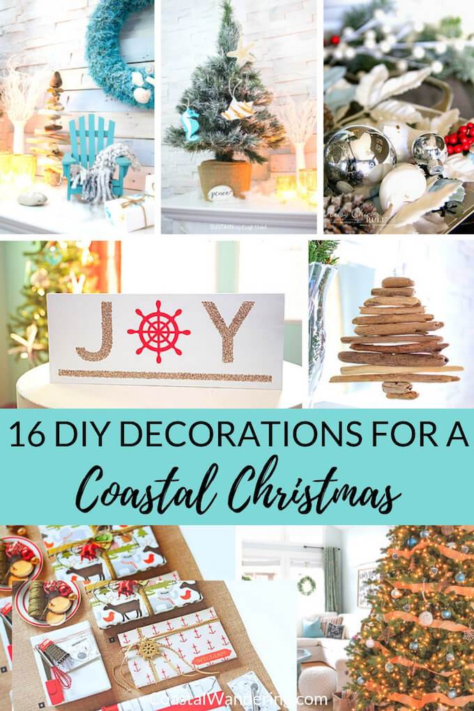 16 DIY Christmas Decorations for a Coastal Christmas