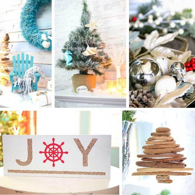 16 coastal christmas decorations to diy