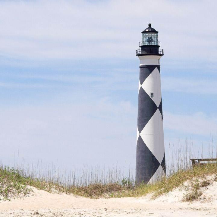 Cape Lookout Lighthouse North Carolina beach