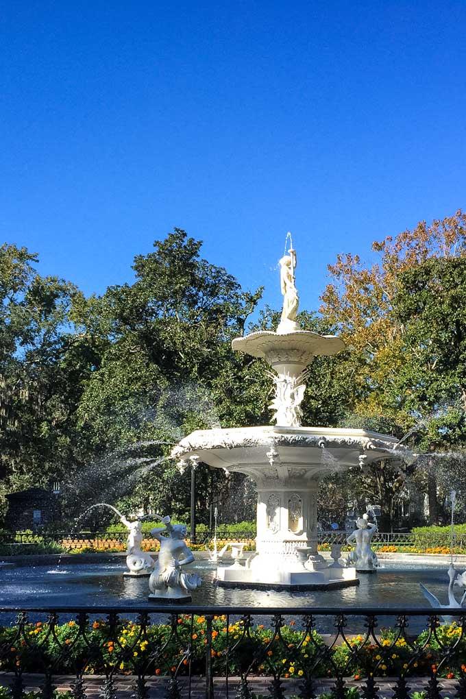 Forsyth Park Fountian in Savannah