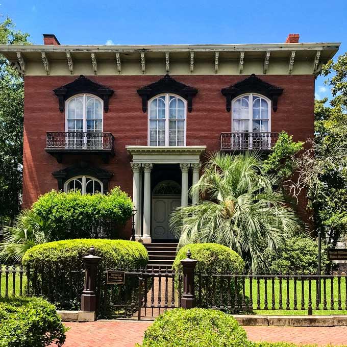 The Mercer Williams House in Savannah, Georgia