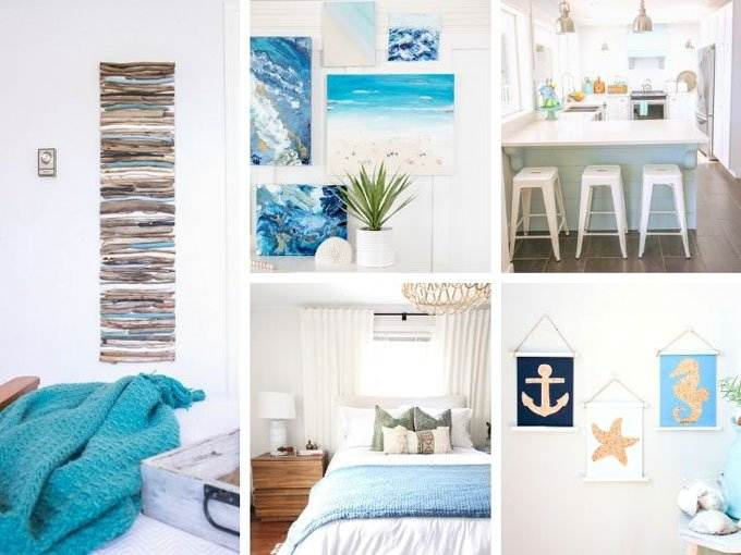Elegant Coastal Decor Ideas Collage - Coastal Wandering