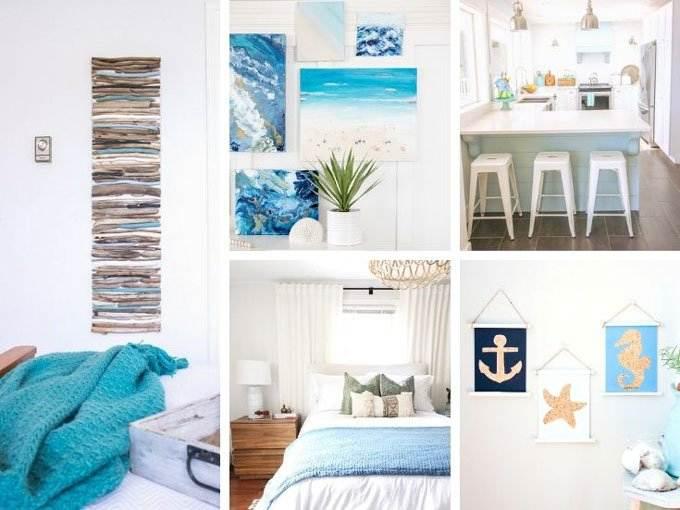 Elegant Coastal Decor Ideas Collage - Coastal Wandering