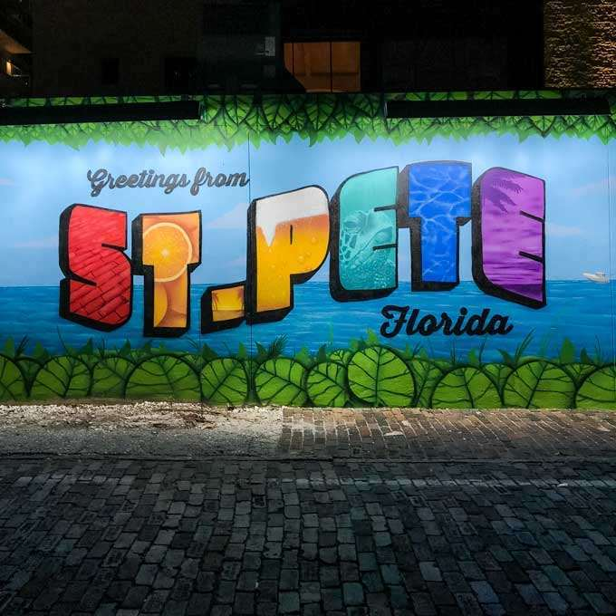 St. Petersburg Florida Greetings from St Pete Street Mural - Coastal Wandering