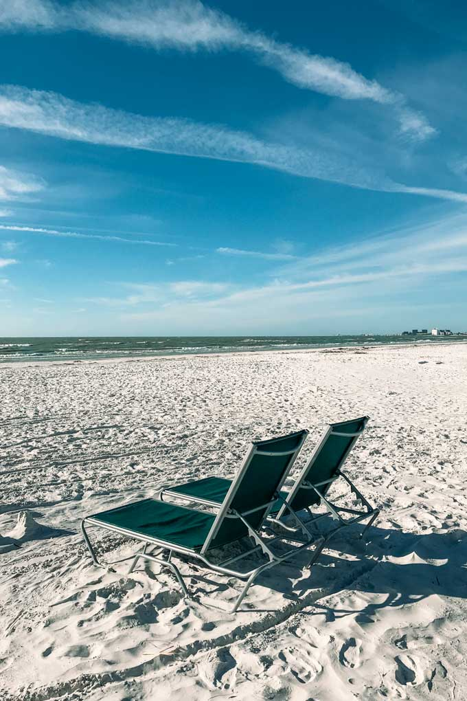 St Petersburg Florida St Pete Beach Chairs - Coastal Wandering