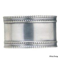 Beaded Pewter Napkin Rings