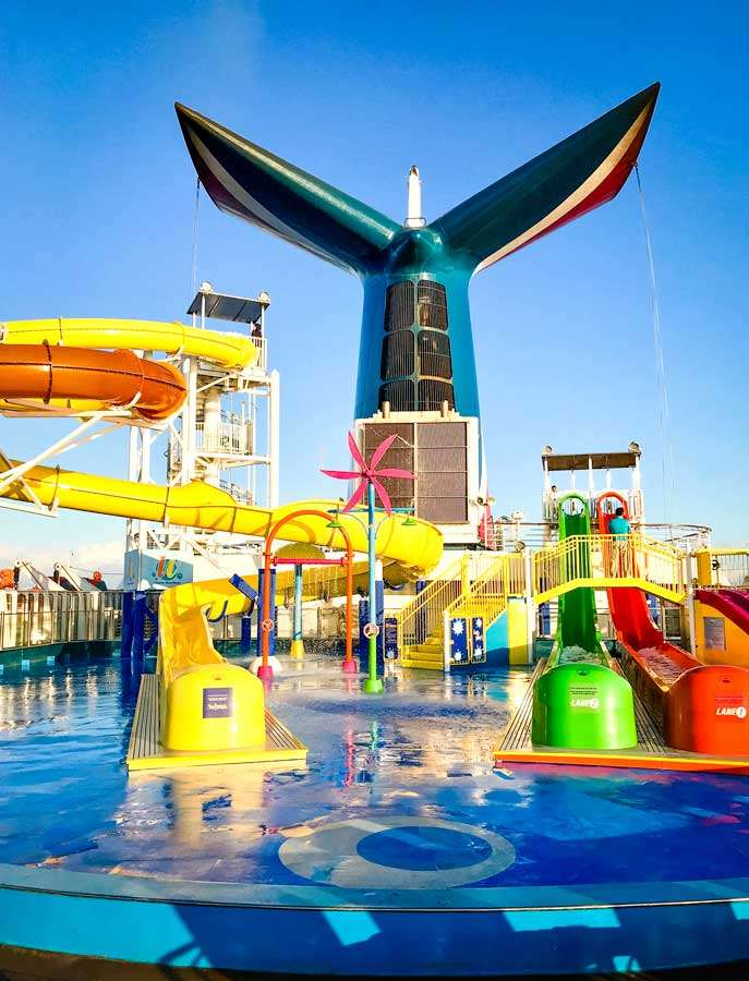 Carnival Elation water slides - Coastal Wandering