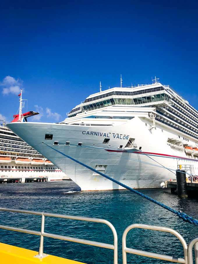 Carnival Valor cruise ship at dock - Coastal Wandering
