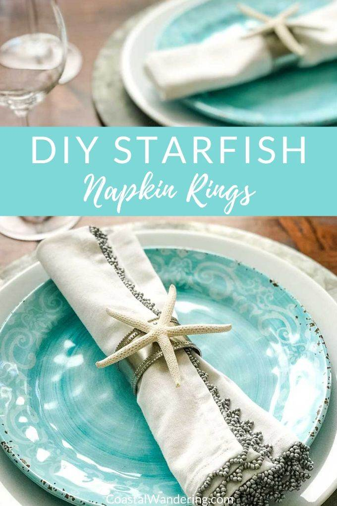 DIY Starfish Napkin Rings | Coastal Wandering