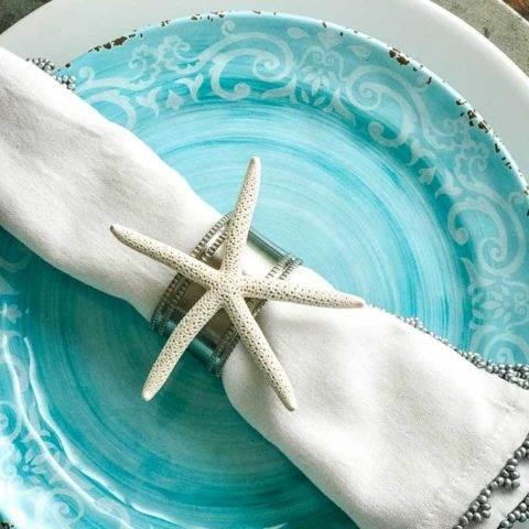 DIY Starfish Napkin Rings