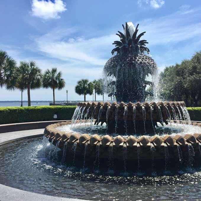 Pineapple Fountain in Waterfront Park, Charleston, South Carolina