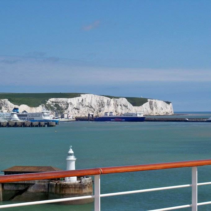 European cruise sailing out of Dover - Coastal Wandering