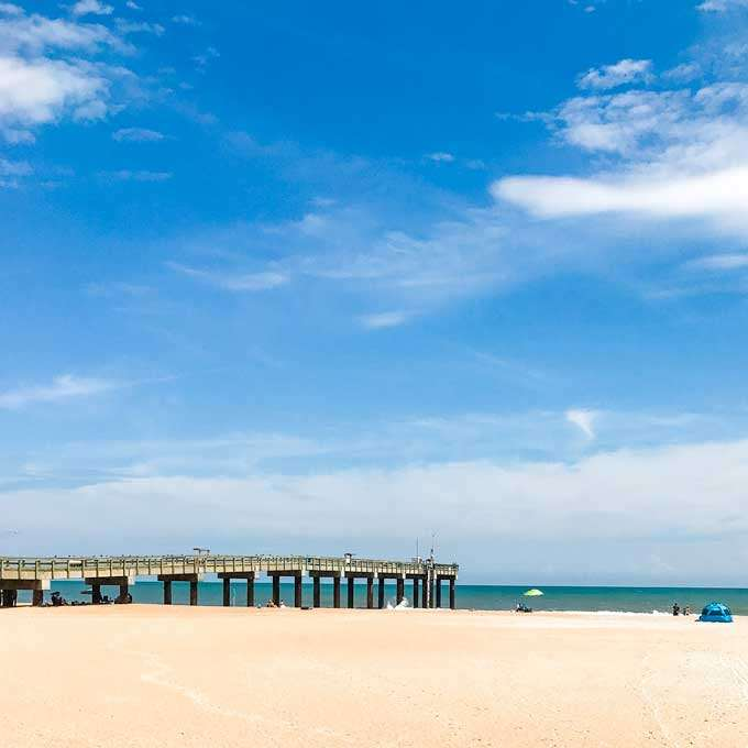 Pier at St Augustine Beach, Florida - Coastal Wandering