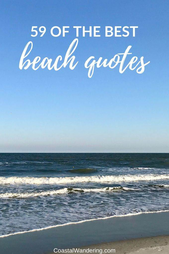the best beach quotes-coastal wandering