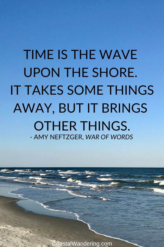 time is the wave upon the shore-coastal wandering