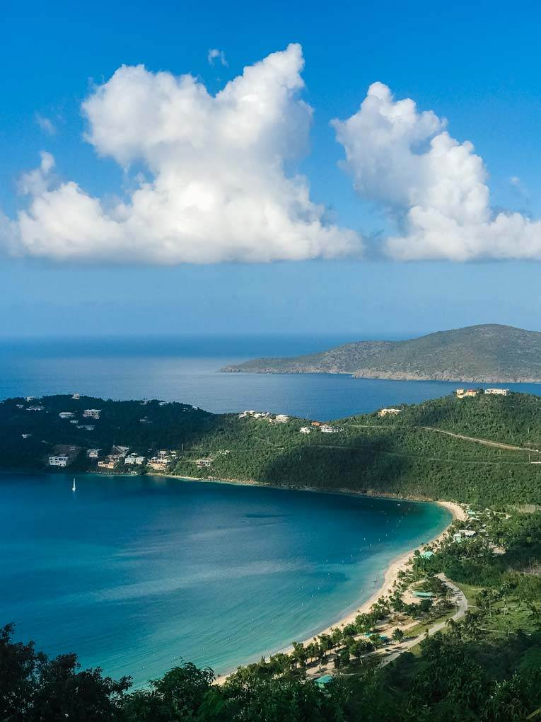 Views of the Virgin Islands from St. Thomas