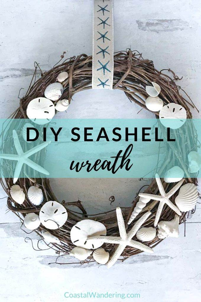 DIY Seashell Wreath Coastal Wandering