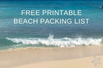 Free Printable Beach Packing List - Coastal Wandering