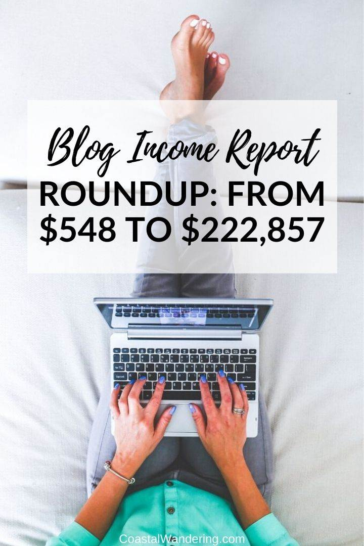 blog income report roundup coastal wandering
