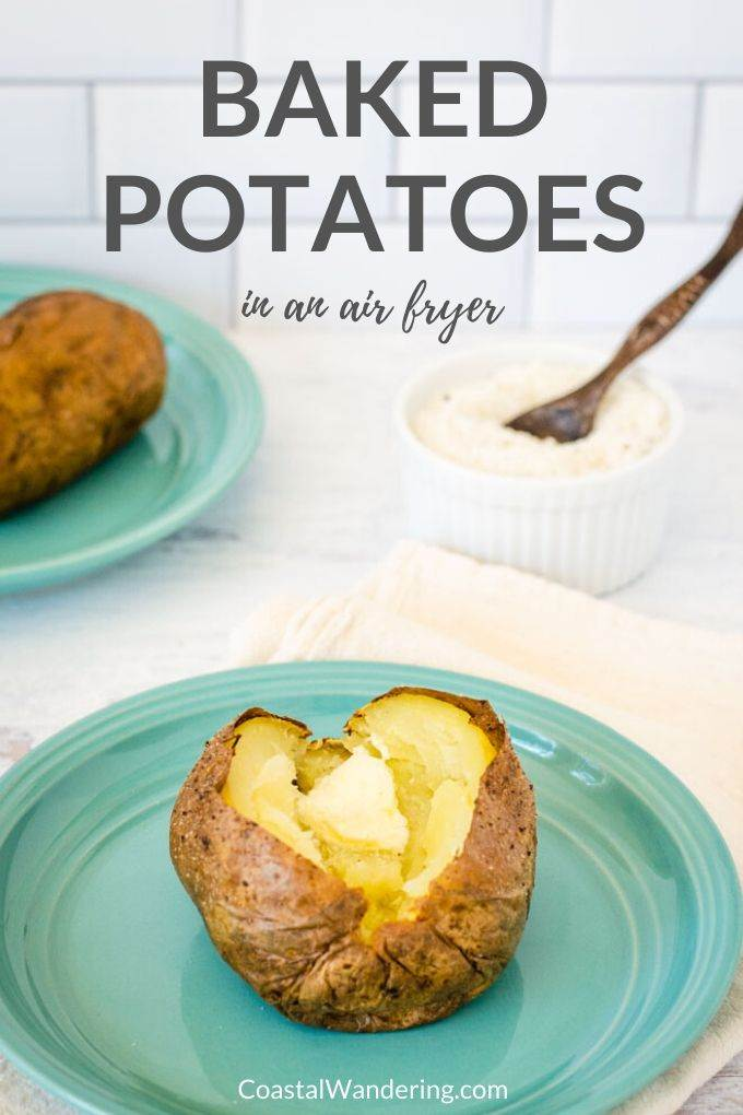 Baked potatoes in an air fryer