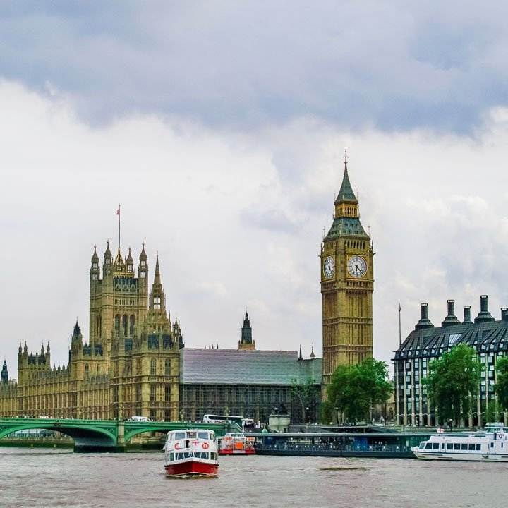 Big Ben and Parliament in London, England