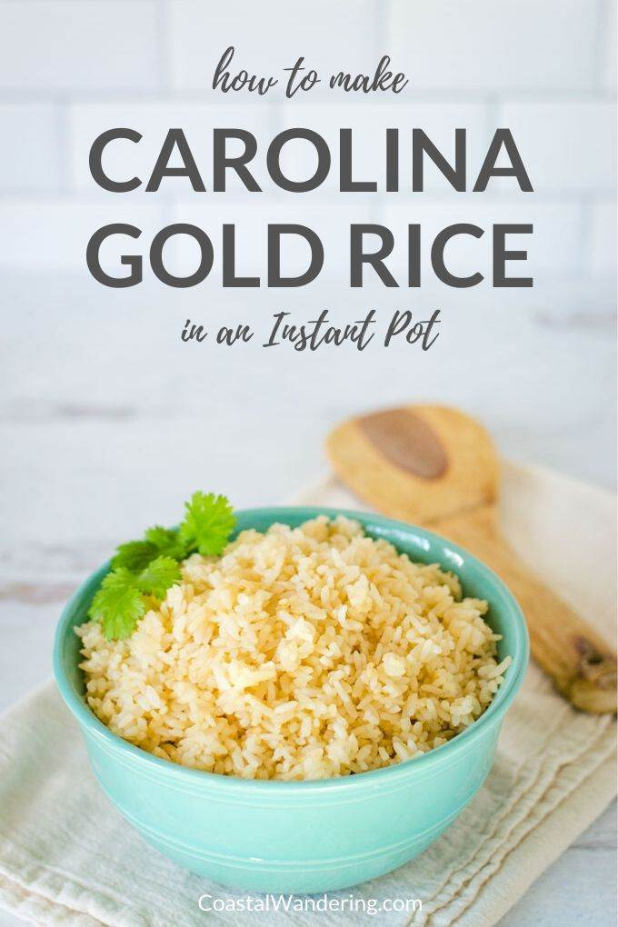 How to make Carolina Gold Rice in an Instant Pot - Coastal Wandering