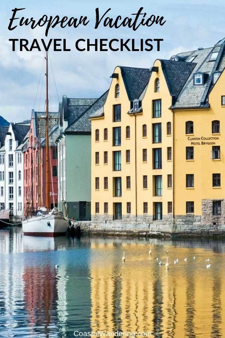 European Vacation Travel Checklist-Coastal Wandering