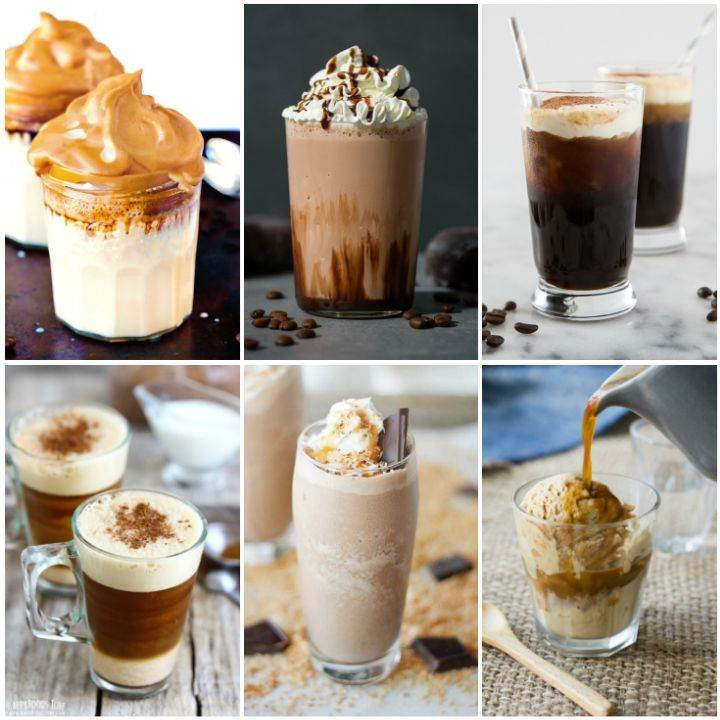 Iced coffee recipes - dalgona coffee, mocha, frozen