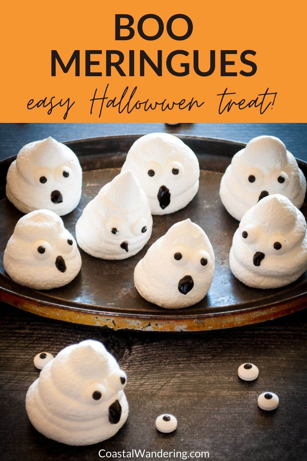 How To Make Boo Meringues For Halloween