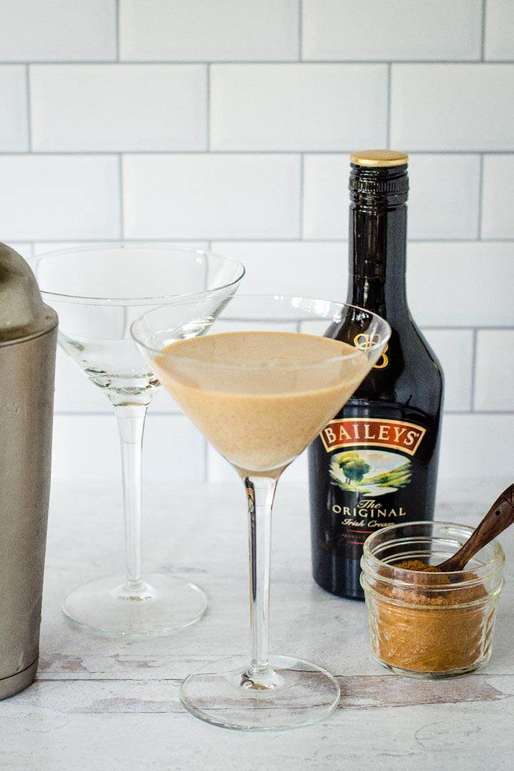 Pumpkin pie martini with Baileys