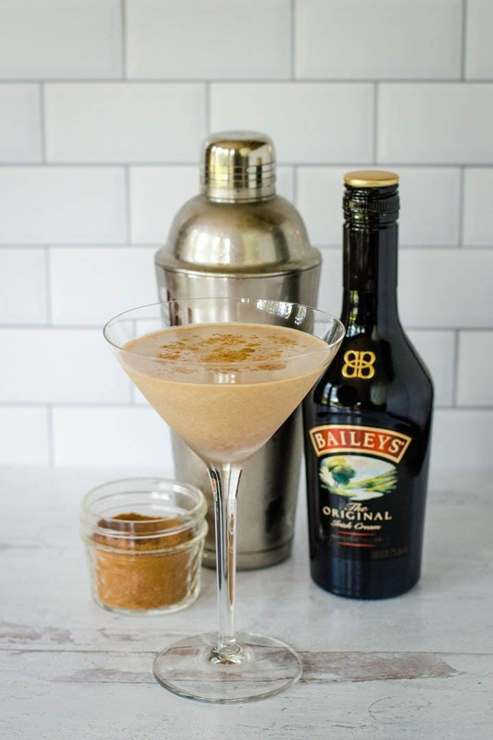 Pumpkin spice martini, cocktail shaker, Baileys