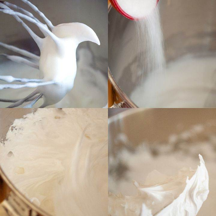 Whipping egg whites for meringue ghosts