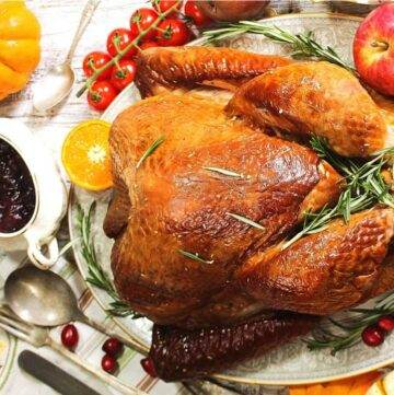Tukey with cranberry sauce