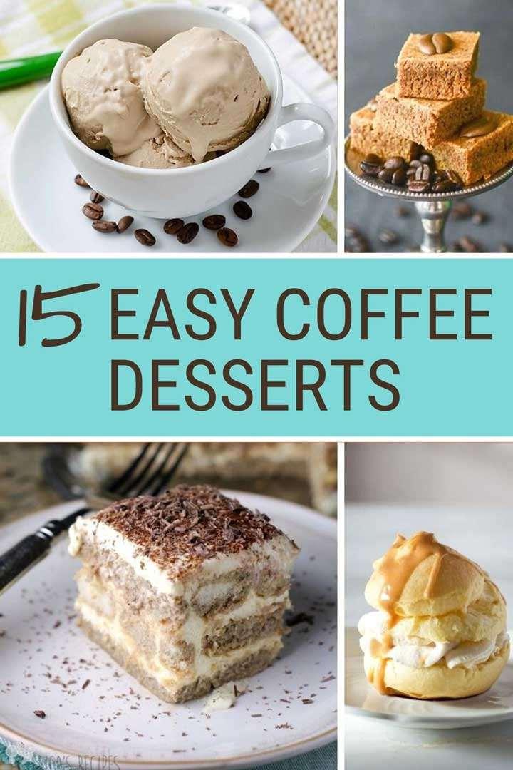 15 Easy Coffee Desserts