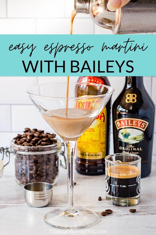 Easy Espresso Martini With Baileys and Kahlua