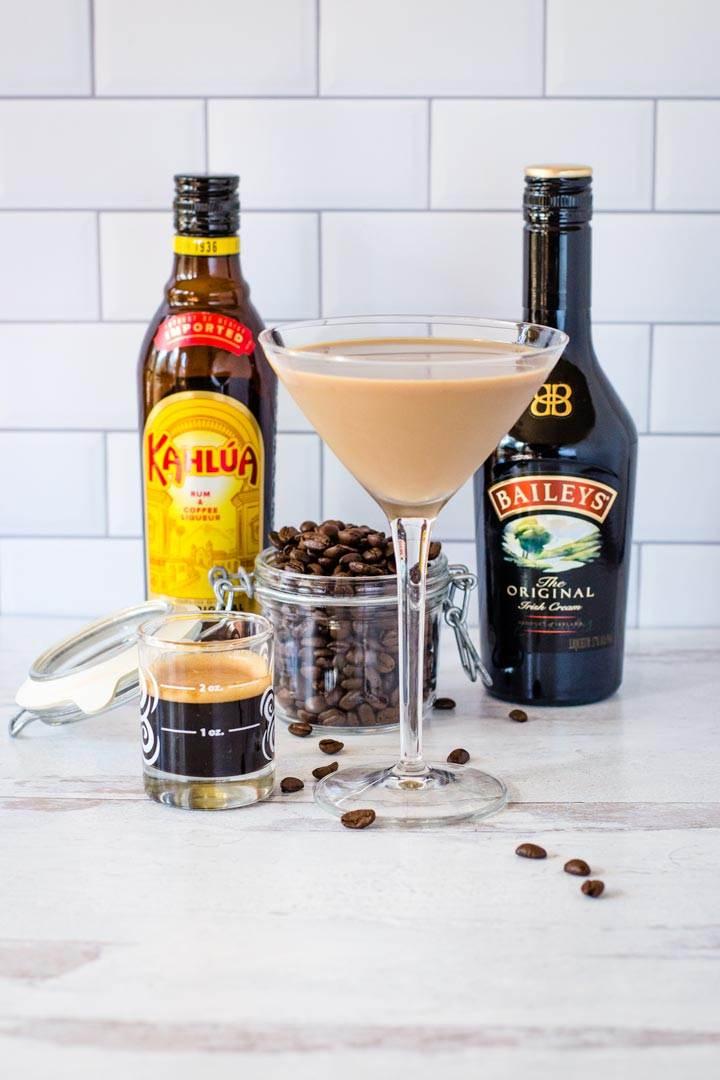 Espresso Martini with Baileys and Kahlua