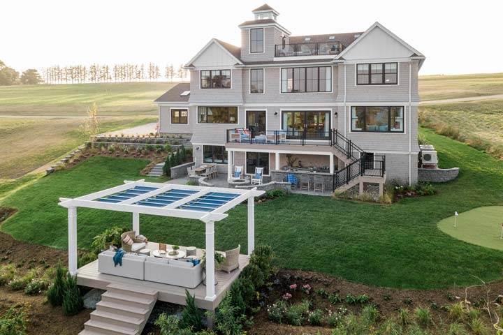 Newport Dream Home backyard